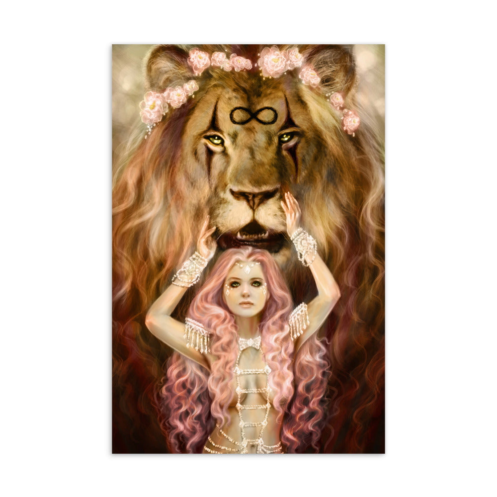 Art Card - Strength - 78 Tarot Carnival