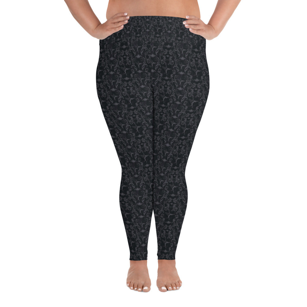 Plus Size Leggings - Fairy Brocade