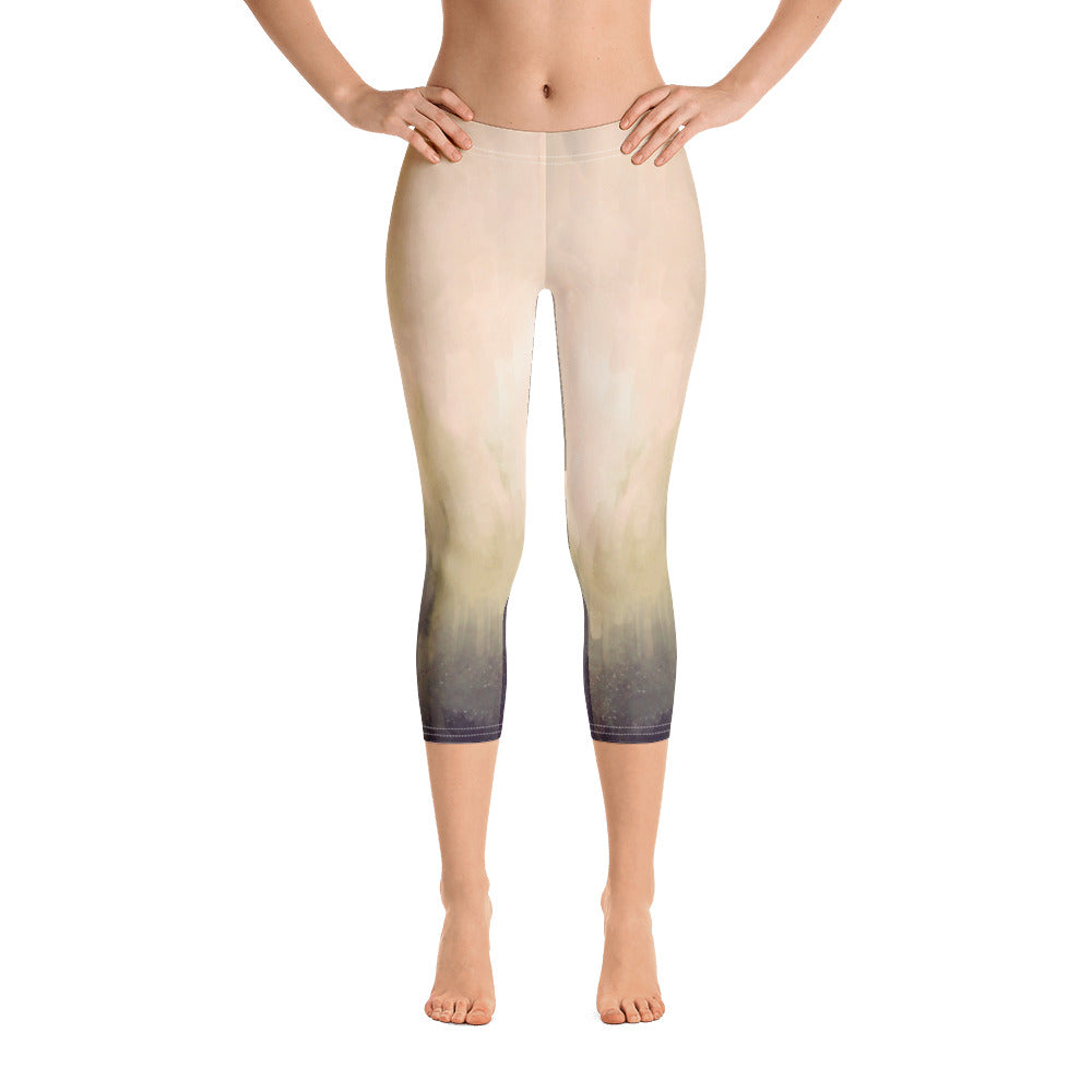 Capri Leggings - Light and Dark