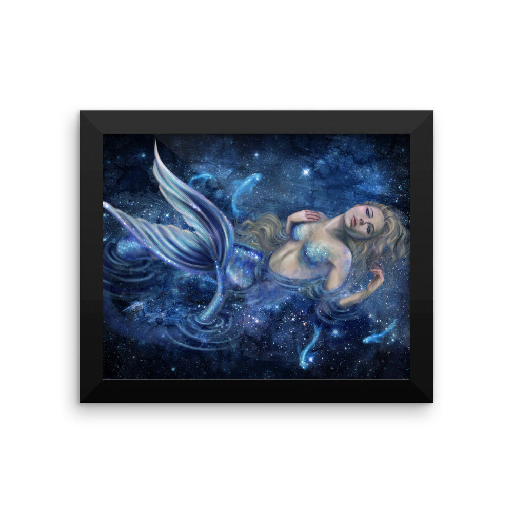 Framed Print - Swimming in Starlight