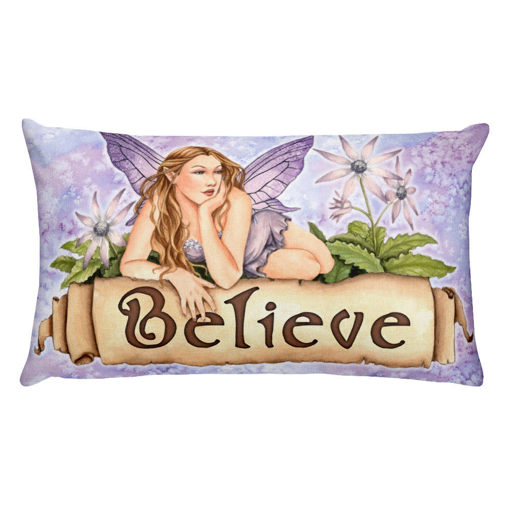 Rectangular Pillow - Believe
