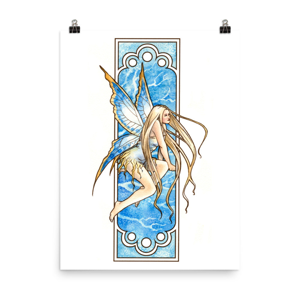 Art Print - Nouveau Fairy Winter