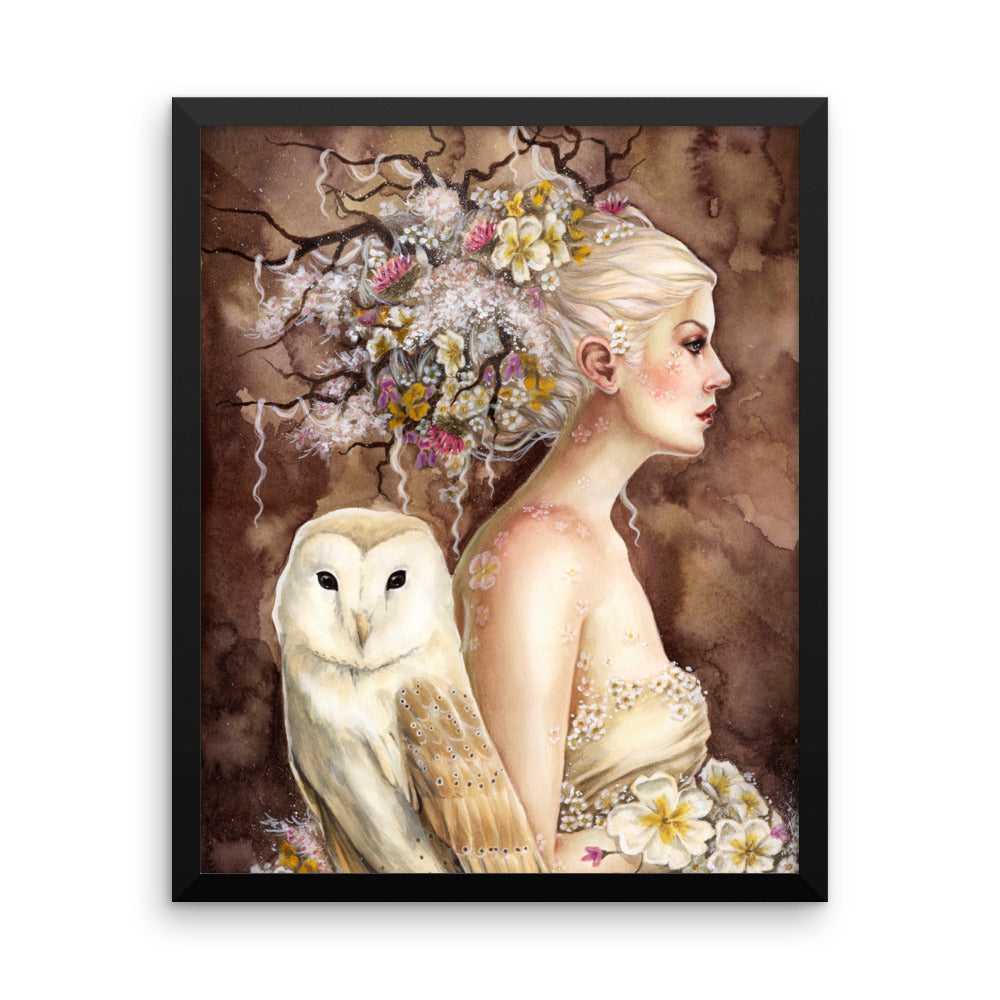 Framed Print - Blodeuwedd in Bloom