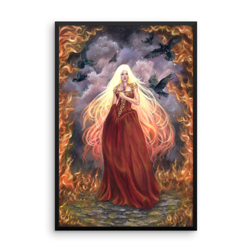 Framed Print - Lady of Fire