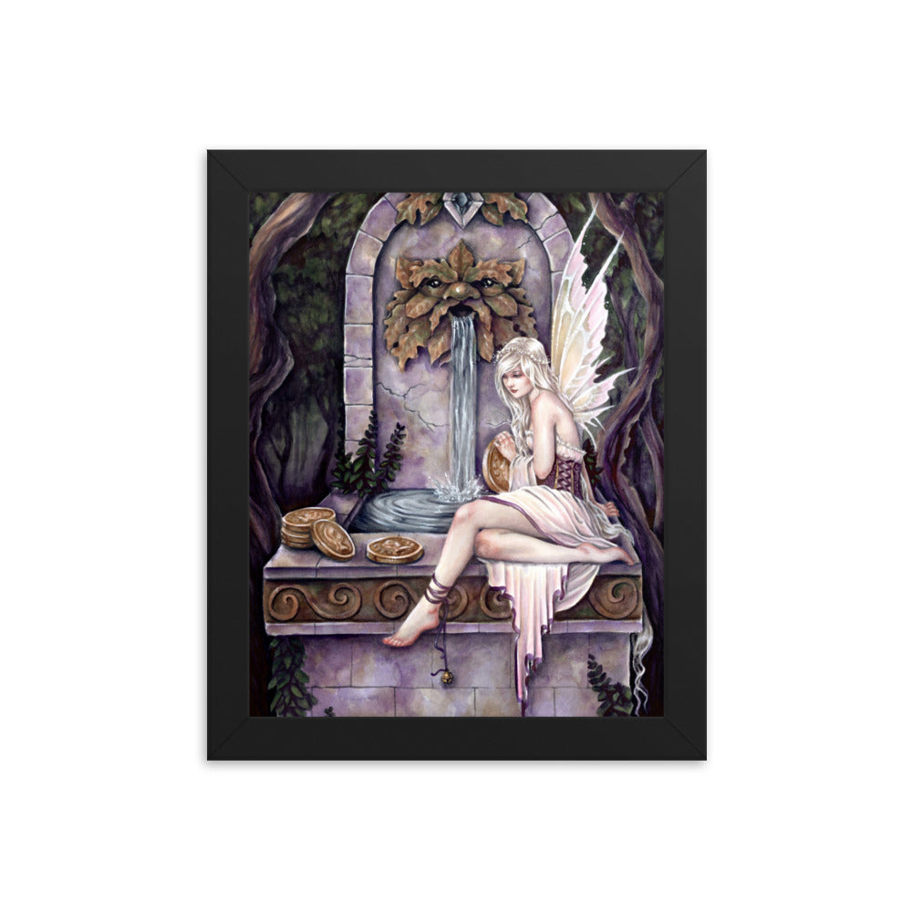 Framed Print - Fairy Wishing Well