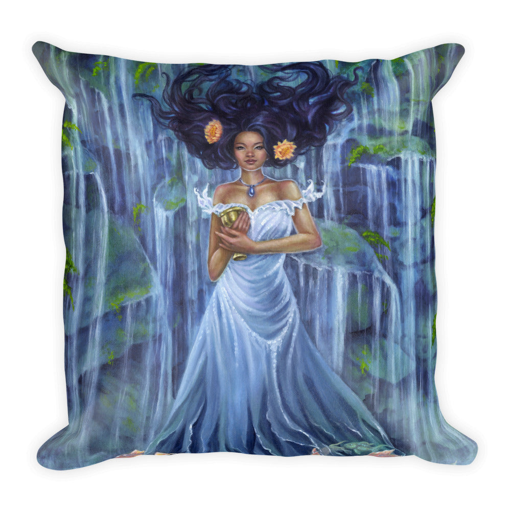 Square Pillow - Lady of Water