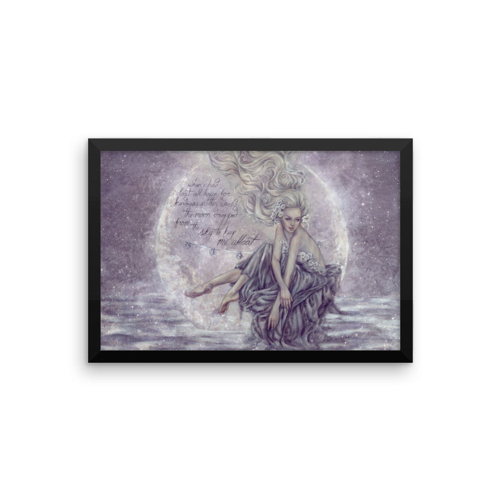 Framed Print - Moon Boat