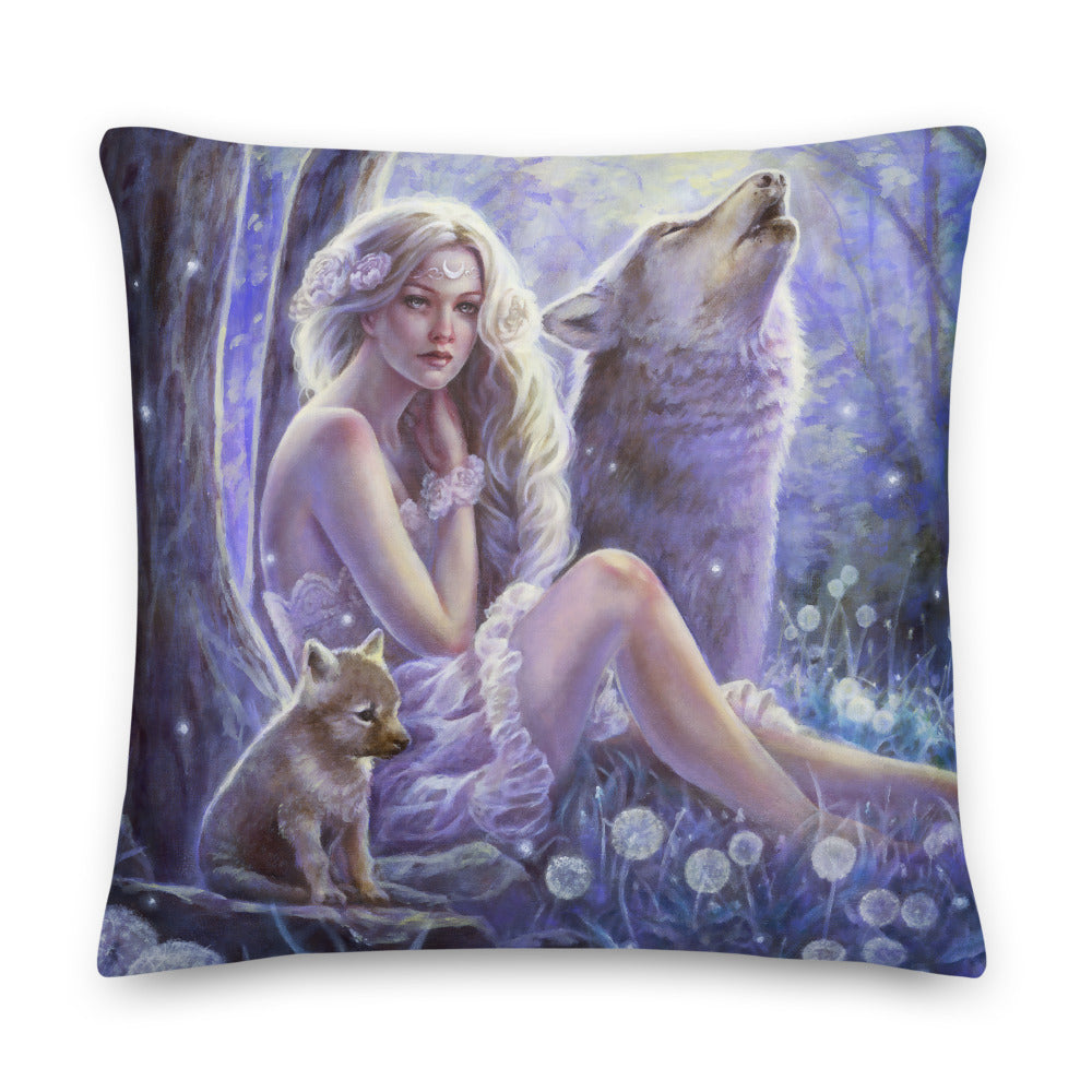 Square Pillow - Wolf Princess