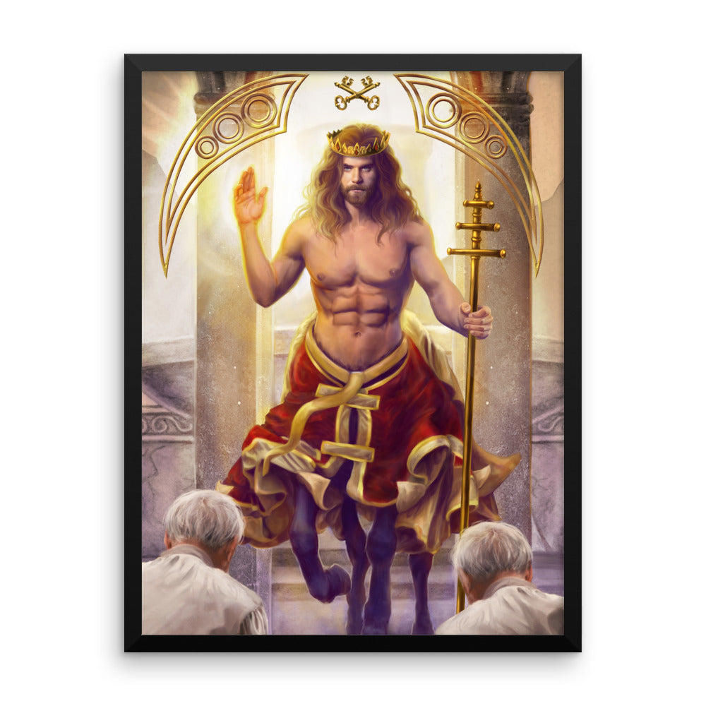 Framed Print - Hierophant - 78 Tarot Mythical