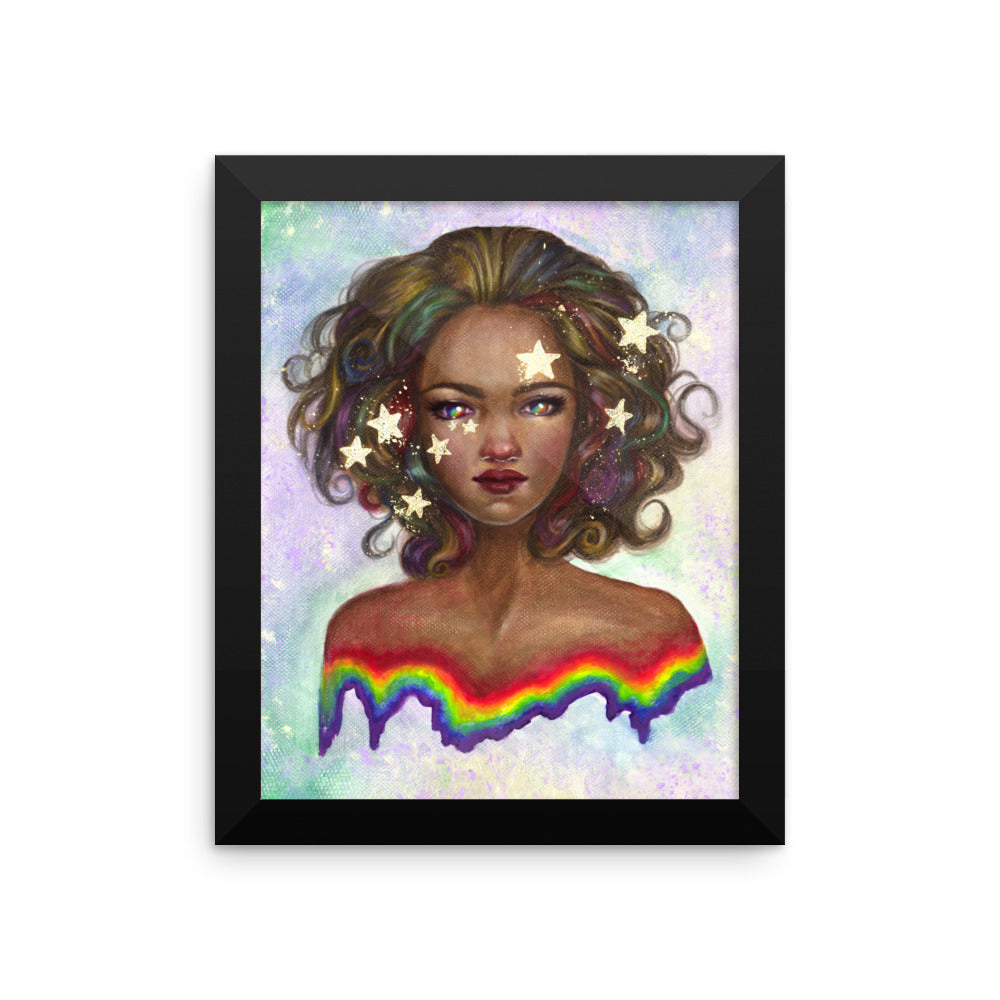 Framed Print - Dipped in Stars and Rainbows