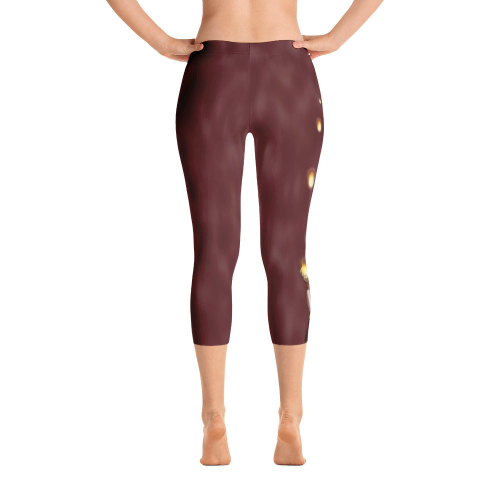 Capri Leggings - Floating Lights