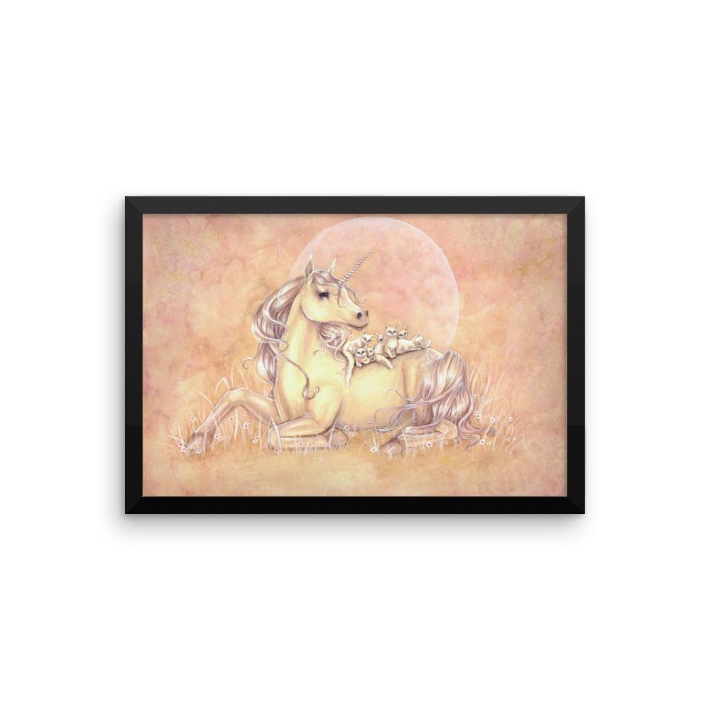 Framed Print - Purrfect Friends