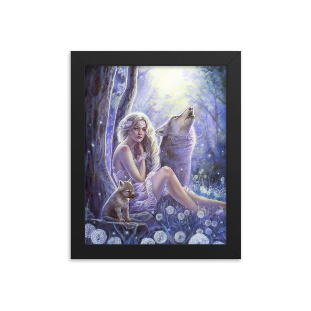 Framed Print - Wolf Princess