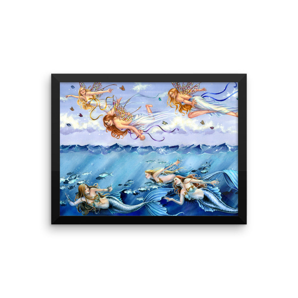 Framed Print - Dark Waters Bright Skies
