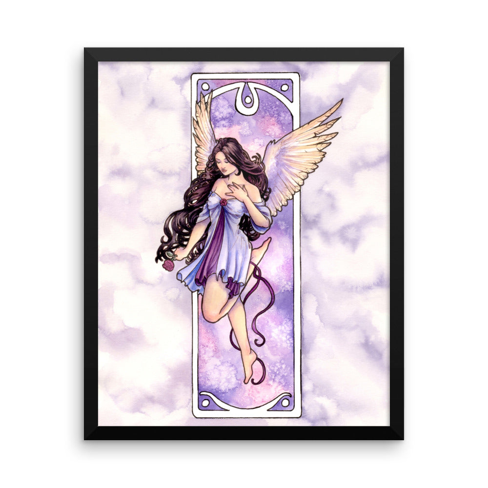 Framed Print - Nouveau Angel of Hope
