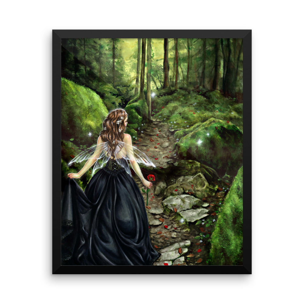 Framed Print - Along the Forest Path
