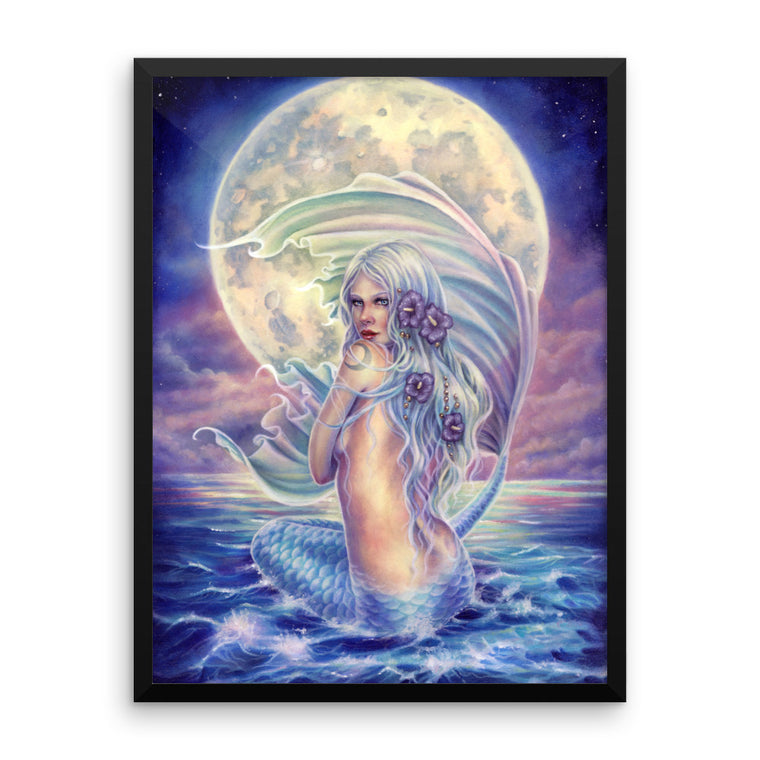 Framed Print - Mermaid Moon
