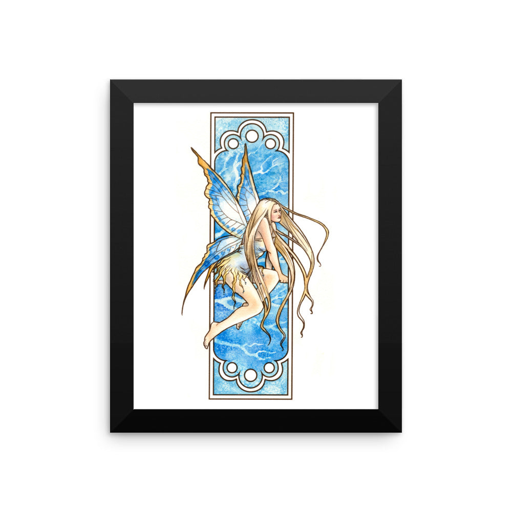 Framed Print - Nouveau Fairy Winter