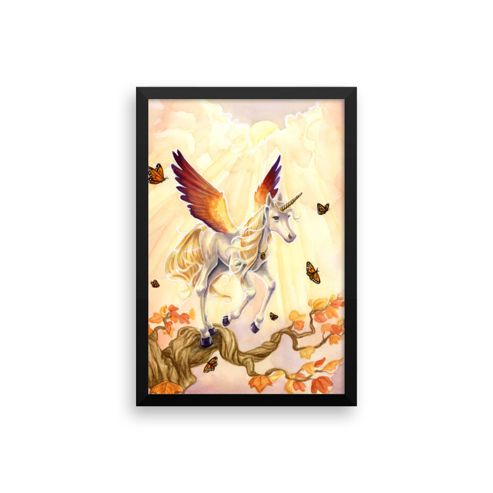 Framed Print - Unicorn Sisters Sunset