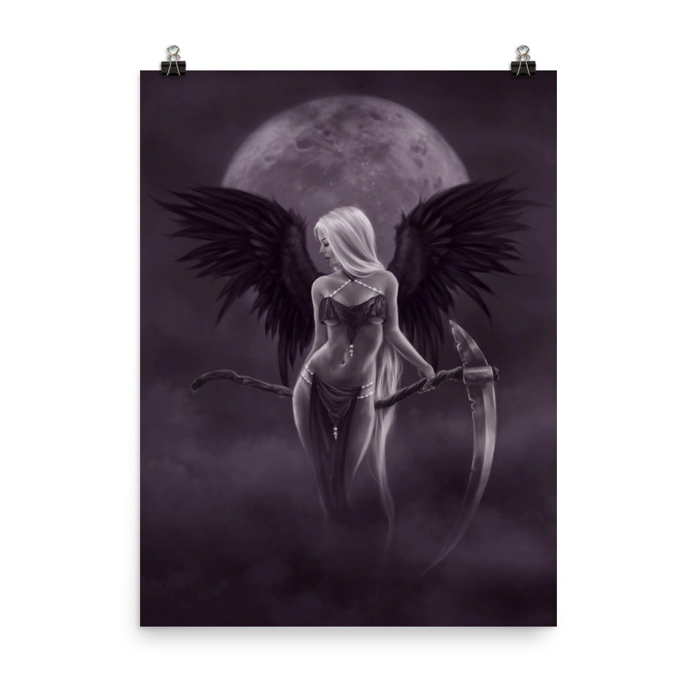 Art Print - Dark Moonlight Angel