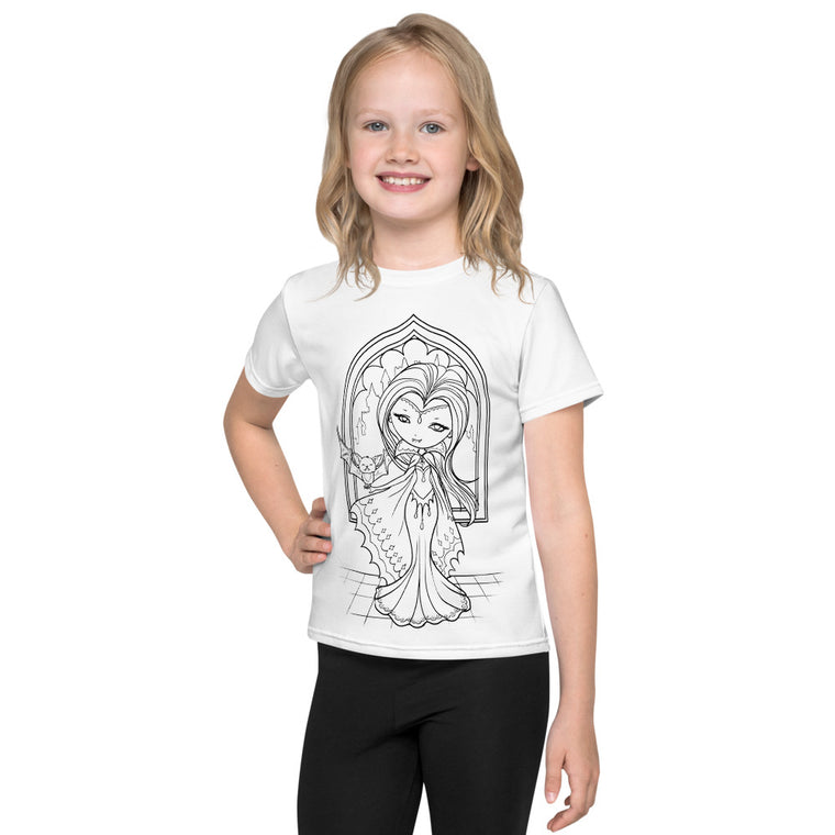 Kids T-Shirt - Vampy Friends - colour your own