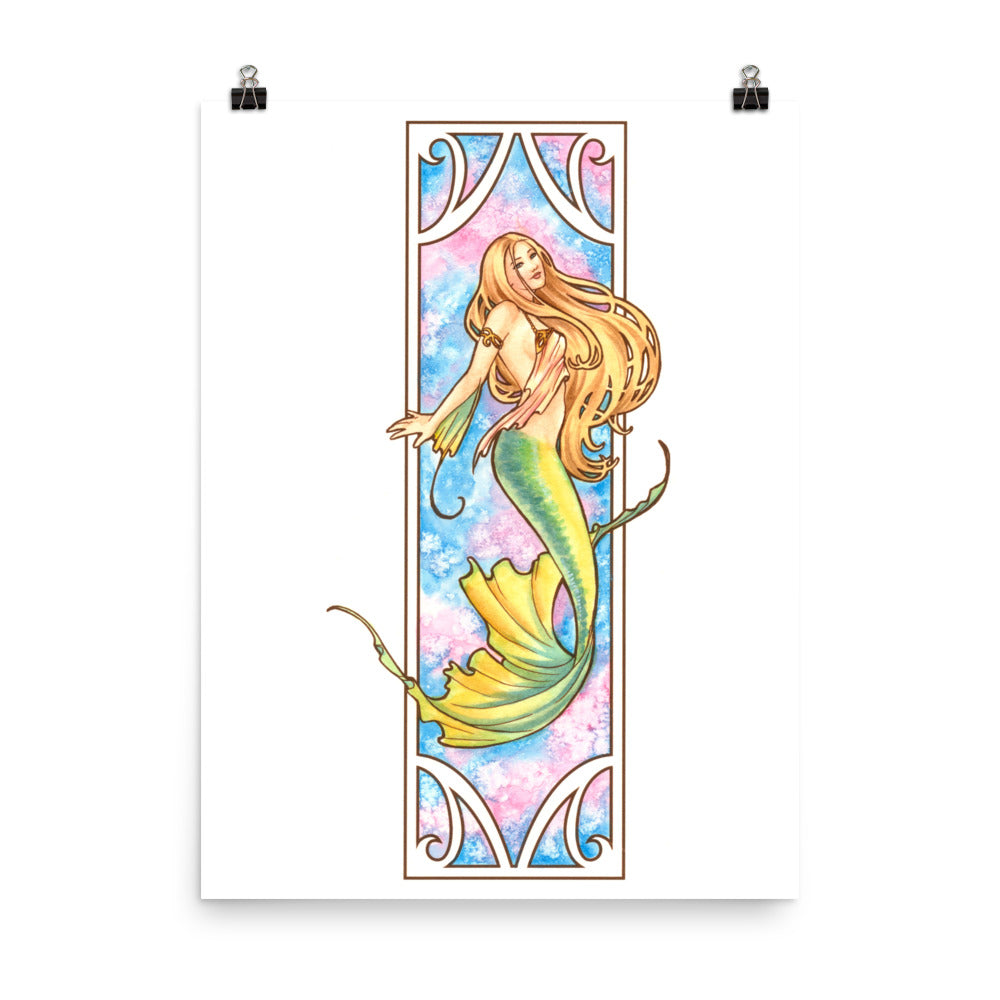 Art Print - Nouveau Mermaid Air