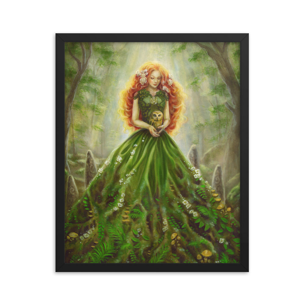 Framed Print - Lady of Earth