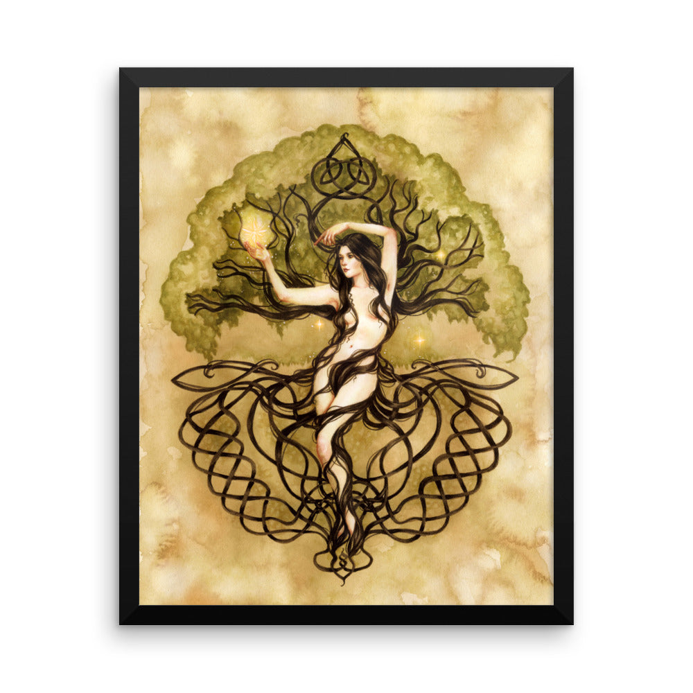 Framed Print - Earth Life Magic