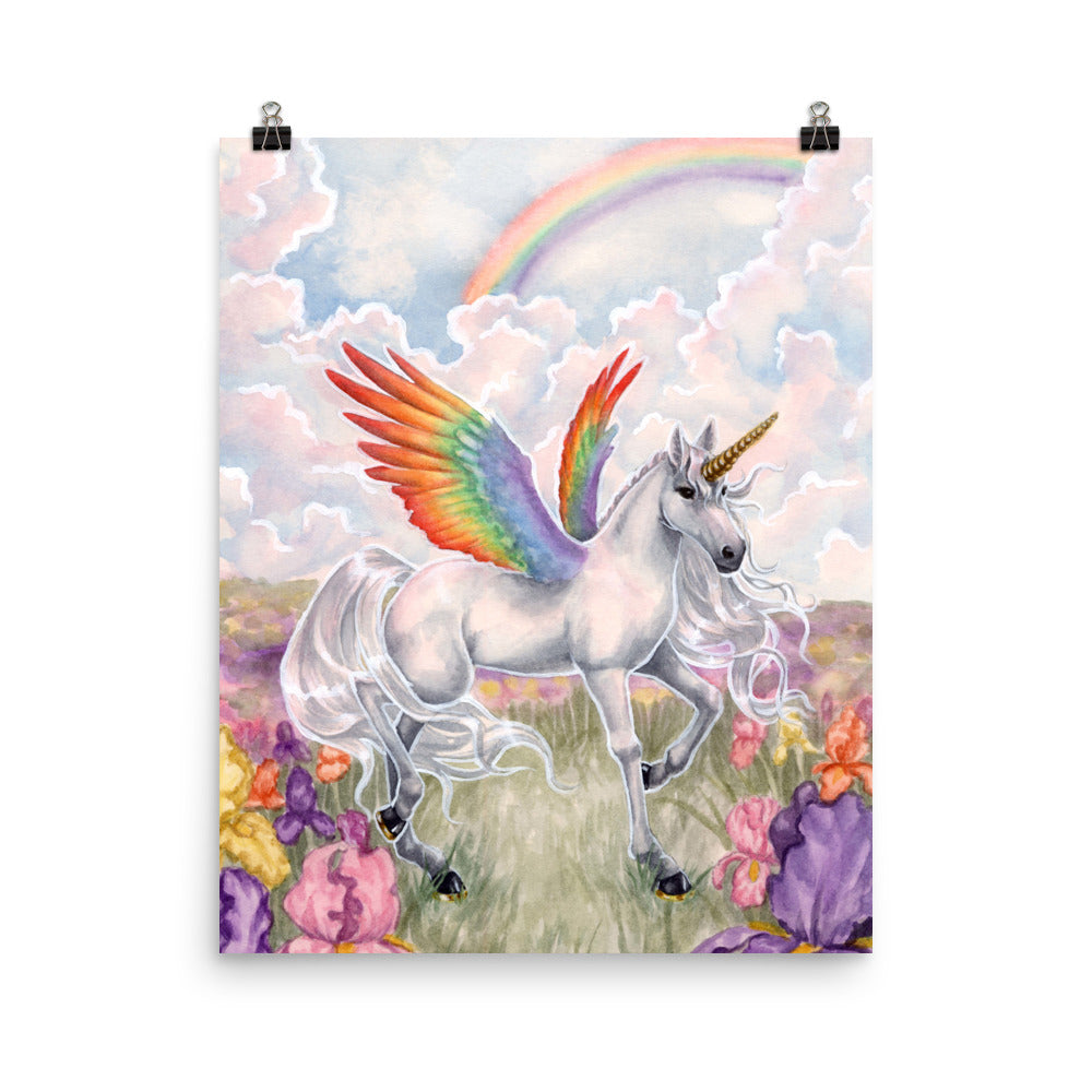 Art Print - Unicorn Sisters Rainbow Wings