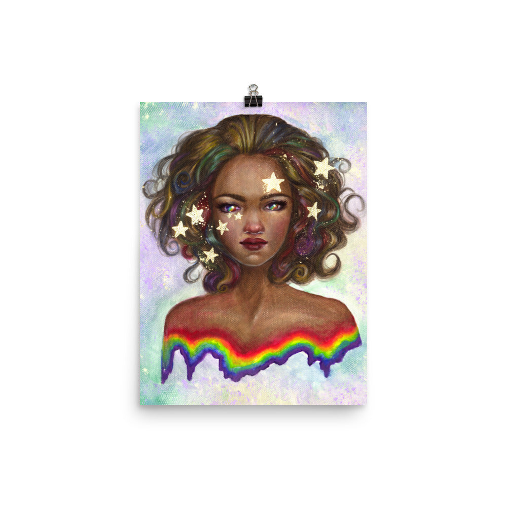 Art Print - Dipped in Stars and Rainbows