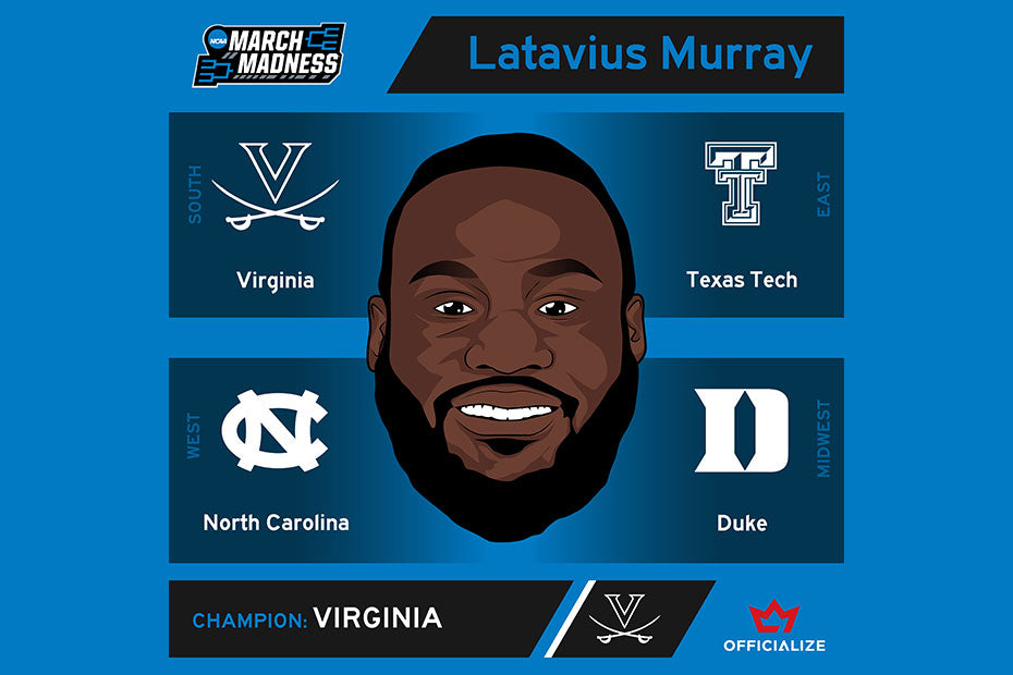 Check Out My March Madness Bracket | Latavius Murray