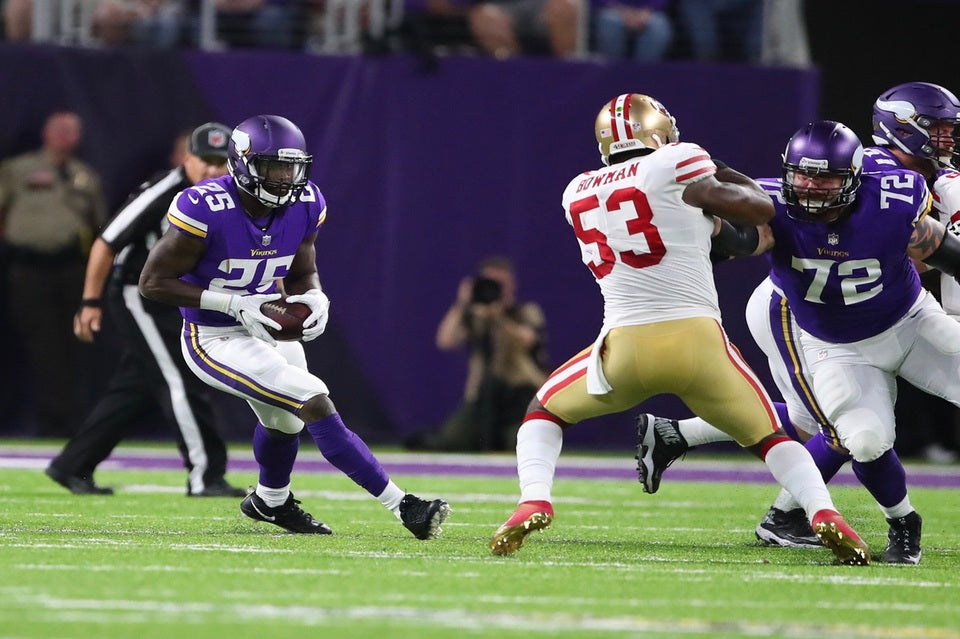 Latavius Murray Relishes Vikings Preseason Debut | Latavius Murray