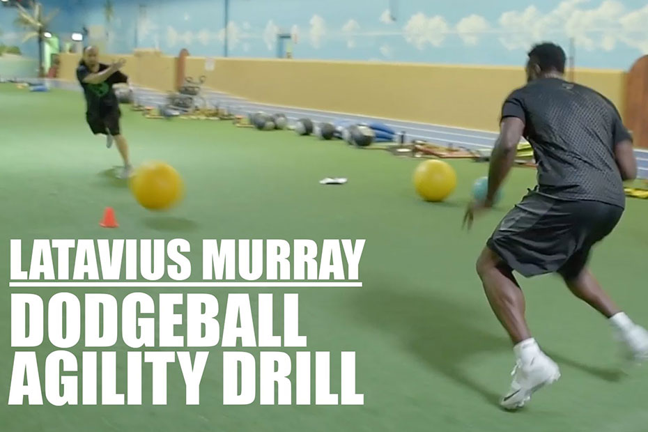 Latavius Murray Does Dodgeball Agility Drill | Latavius Murray