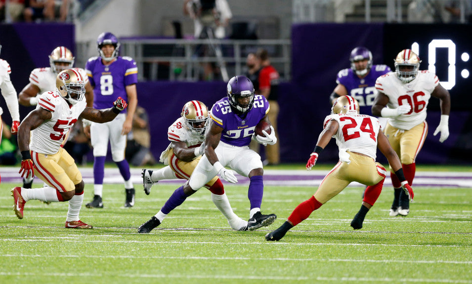 Vikings' running back Latavius Murray believes role, limited so far, is 'still evolving' | Latavius Murray