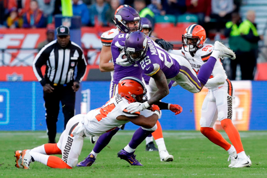 Vikings rally to beat Browns in London | Latavius Murray
