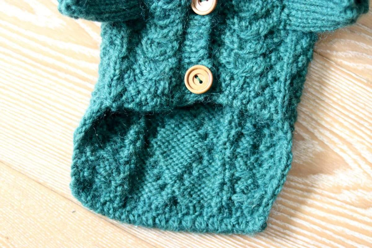 Frenchie World Shop 100% Wool Handmade Knitted Cardigan