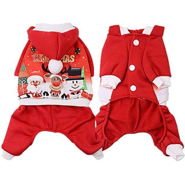 Frenchie World Shop Red / XXL 2019 Christmas Dog Clothes Winte Coat Clothing Santa Costume Pet Dog Christmas Clothes Cute Puppy Outfit For Dog XS-XL