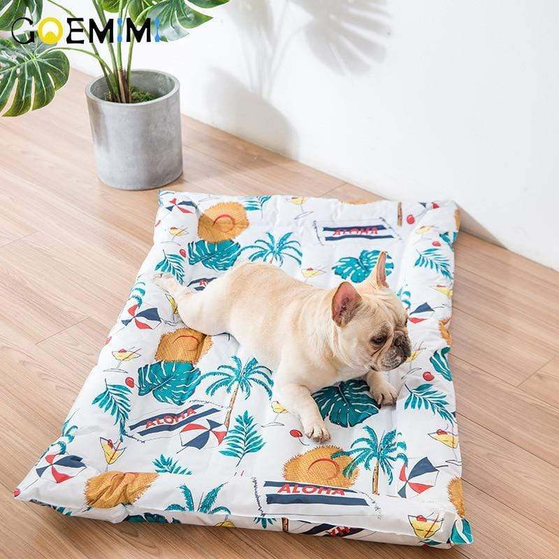 Frenchie World Shop 2019 Summer Cooling Mats Blanket Ice Pet Dog Bed Mats For Dogs Cats Sofa Portable Puppy Sleeping Beds Pet Accessories