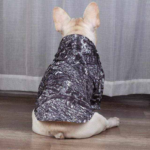 Frenchie World Shop Gray / XXL 2019 Winter Dog Clothes Poodle Bichon Schnauzer Pug French Bulldog Corgi Dog Coat Jacket Pet Outfit Dropship Pug Costume Apparel