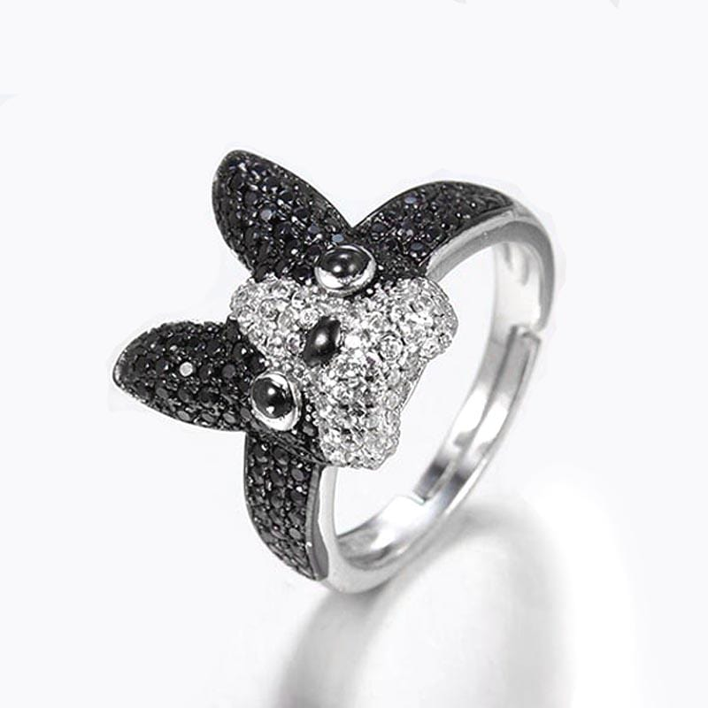 Frenchie World Shop 925 Sterling Silver Ring with Zircons