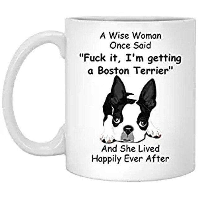 Frenchie World Shop Clear / 301-400ml A Wise Woman French Bulldog Cup
