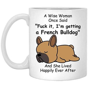Frenchie World Shop Red / 301-400ml A Wise Woman French Bulldog Cup