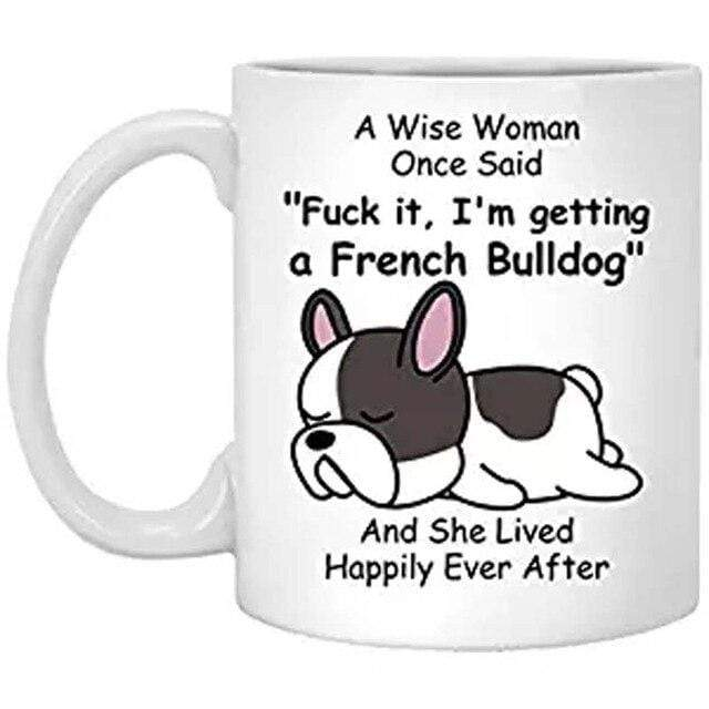 Frenchie World Shop White / 301-400ml A Wise Woman French Bulldog Cup
