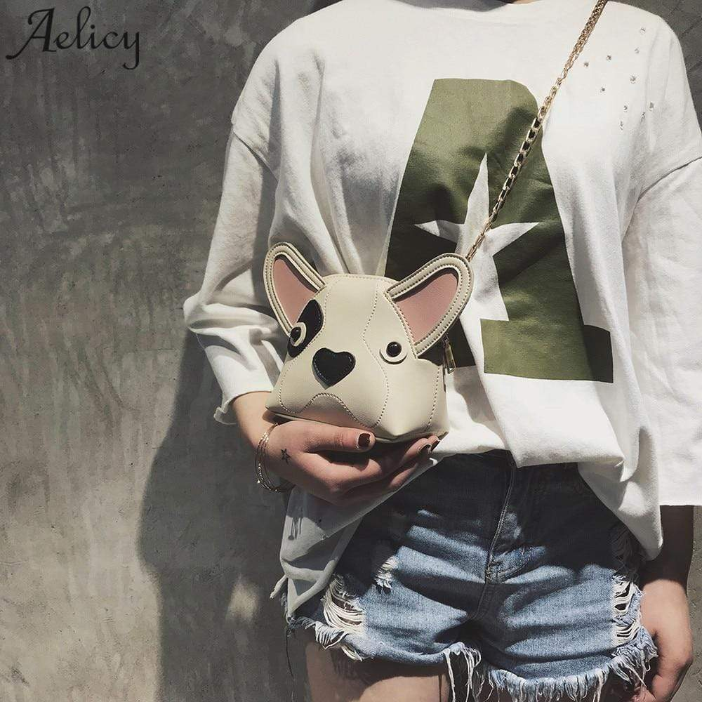 Frenchie World Shop Aelicy bags for women 2018  Fashion Women Girl Cute Dog Mini Shell Bag Chird Crossbody Shoulder Bag With DropShip