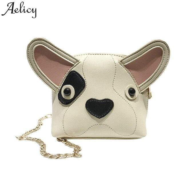 Frenchie World Shop White / China Aelicy bags for women 2018  Fashion Women Girl Cute Dog Mini Shell Bag Chird Crossbody Shoulder Bag With DropShip