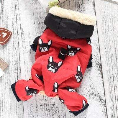 Frenchie World Shop Red / S All Over Frenchie Snowsuit
