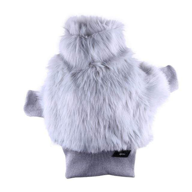 Frenchie World Shop Arctic Faux Fur French Bulldog Coat