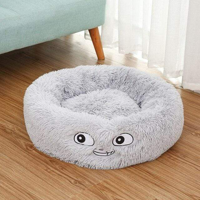 Frenchie World Shop Gray / 50x26cm Autumn and winter thick pv velvet round pet nest deep sleep cat litter kennel pet supplies Creative Pet Nest Cama Gato