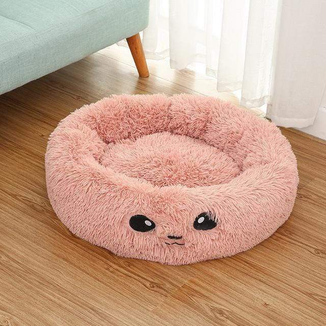 Frenchie World Shop Pink / 50x26cm Autumn and winter thick pv velvet round pet nest deep sleep cat litter kennel pet supplies Creative Pet Nest Cama Gato