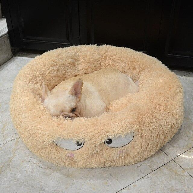 Frenchie World Shop Yellow / 60x26cm Autumn and winter thick pv velvet round pet nest deep sleep cat litter kennel pet supplies Creative Pet Nest Cama Gato